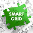 Smart Grid on Green Puzzle. - 81400340