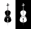 Cello in black and blue colors - 81400751