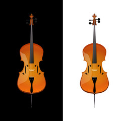 Illustration of Cello in realistic style