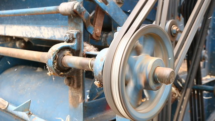 A vintage stationary engine
