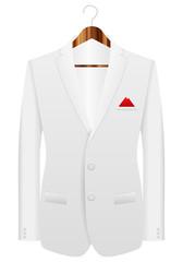 man suit on hanger