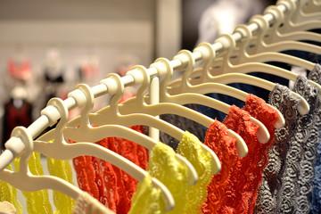 Multi-coloured wardrobe showcase