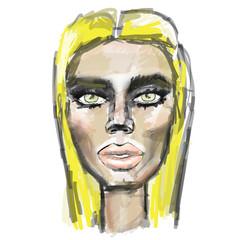 Блондинка Модель Девушка Губы Взгляд