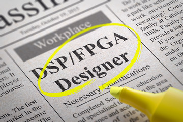 DSP, FPGA Designer Jobs in Newspaper.