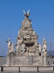 Brunnen der 4 Kontinente in Triest / Friaul / Italien