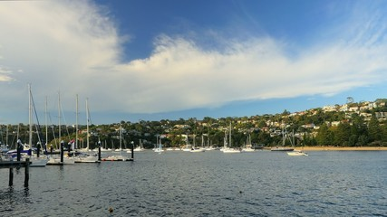 Yachts in the Middle Harbour, Sydney