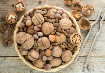 Hazelnuts, walnuts and pine nuts