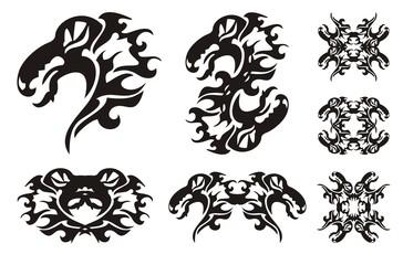 Tribal dragon set