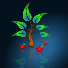 Baum mit Apfel 3
