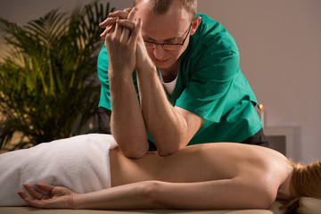 Using elbows during massage