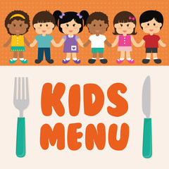 Kids menu design.