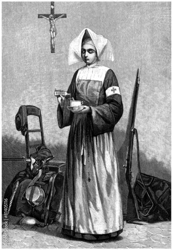 Nurse-Nun - Soeur de Charité - 19th century
