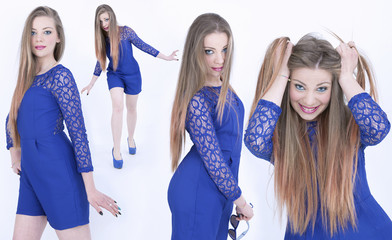 All blue girls