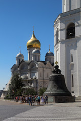 Tsar-bell and The Cathedral of the Archangel, Kremlin, Moscow