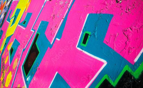 mata magnetyczna Streszczenie kolorowe graffiti na starej ścianie fragment