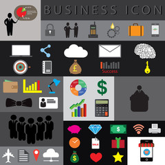 business icon set vector illustration eps10