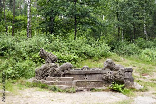 Leinwanddruck Bild Fountain Of Jacob, Kuks, Czech republic