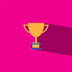 Trophies flat icon  vector illustration eps10