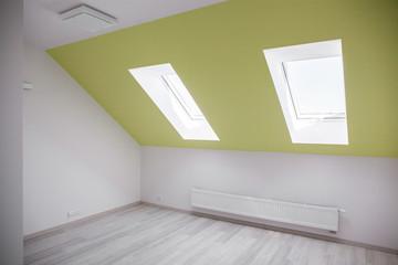 Empty attic room