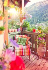 schöner Balkon mit Blumen - nice balcony 05