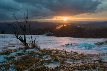 Sonnenuntergang im Nationalpark Schwarzwald