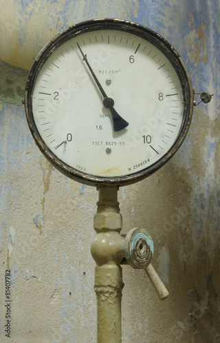 Poster A device for measuring pressure, dated 1969 year