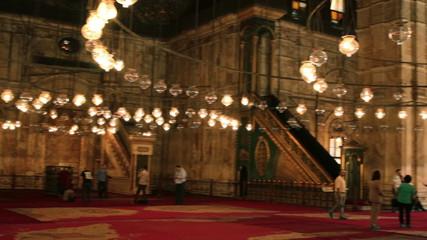 Interior off the Mosque of Muhammad Ali Pasha. Egypt