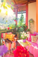 Schöner Balkon mit Blumen - nice balkony 06