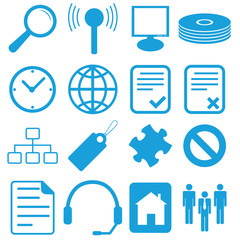 Design flat icons set