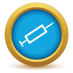 Gold syringe icon