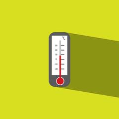 termometer flat icon  vector illustration eps10