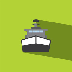 Battleship flat icon  vector illustration eps10