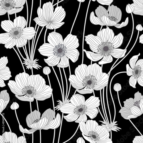 Obraz na Szkle seamless pattern with summer flowers