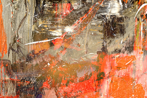 Leinwanddruck Bild Abstract on Canvas