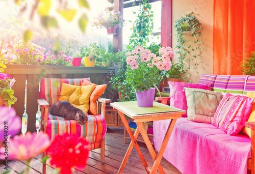 Foto op Canvas Tuin nice balkony 07