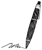 Fototapety ballpoint pen, doodle style, sketch illustration