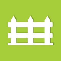 Fence flat icon  vector illustration eps10