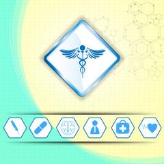 medical concept on paper design background