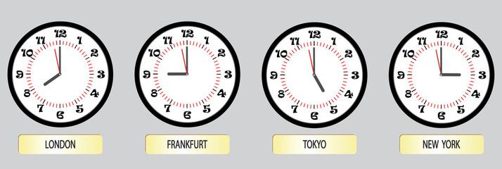Set of clock exchanges