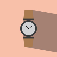 watch flat icon  vector illustration eps10