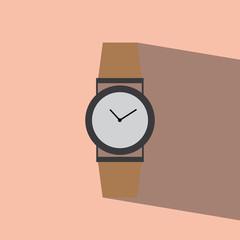 watch flat icon  vector illustration eps10