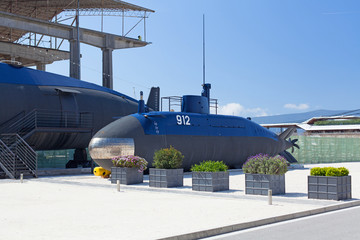Old submarine near the Tivat, Montenegro