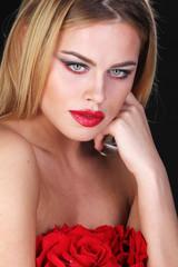 Bright color portrait of woman