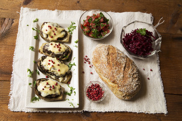 Eggplant rustic meal