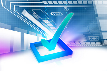 3d multi use check box with check