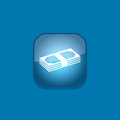 bank money button icon flat  vector illustration eps10