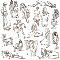 Nudity in Art - Hand drawings, Full sized pack
