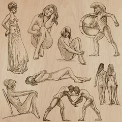 Nudity in Art - Hand drawn vectors