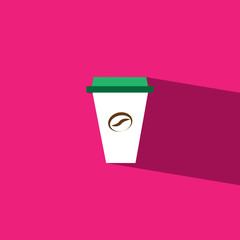 coffee cup flat icon  vector illustration eps10