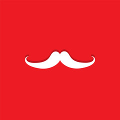 mustache flat icon  vector illustration eps10